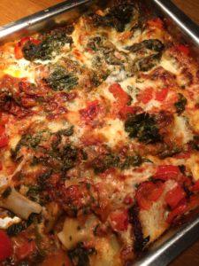 Underbart god och saftig vegetarisk lasagne.